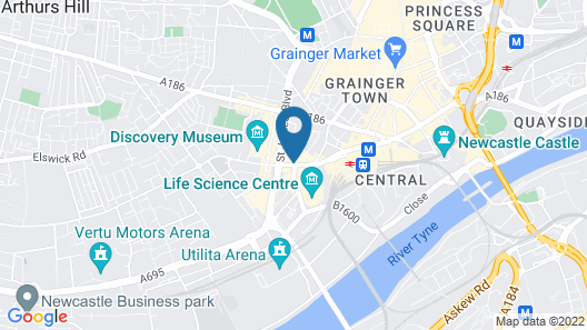 Holiday Inn Express Newcastle City Centre Map