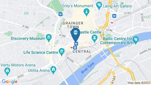 Hampton By Hilton Newcastle Map