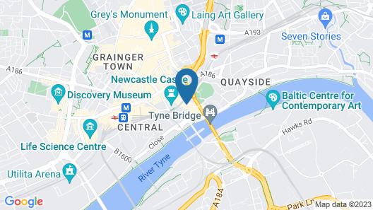 easyHotel Newcastle Map