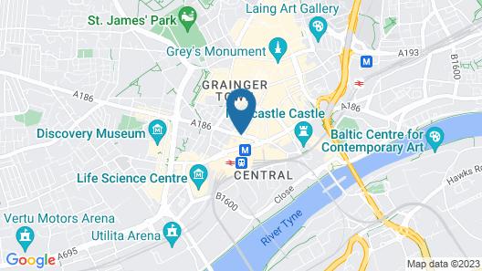Sleeperz Hotel Newcastle Map