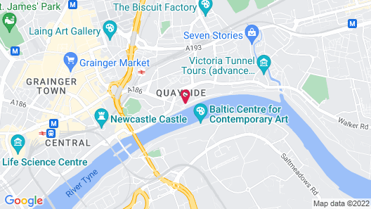 Malmaison Newcastle Map