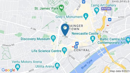 PREMIER SUITES Newcastle Map
