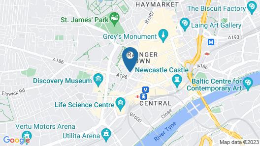 Hotel Indigo Newcastle Map