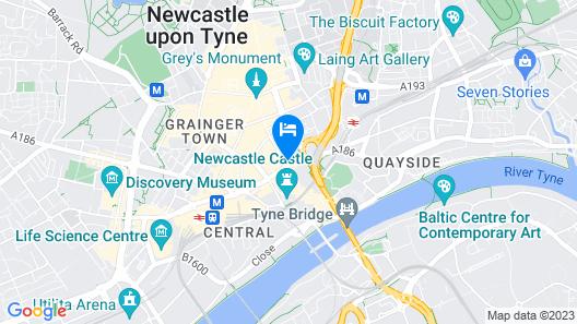 Grey Street Hotel Map