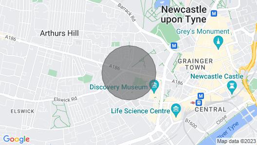 Newcastle City Centre Super Spacious Apartment Map