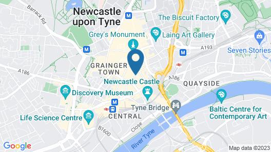 Motel One Newcastle Map