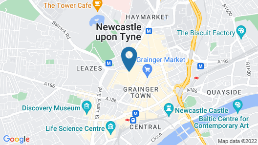 Maldron Hotel Newcastle Map