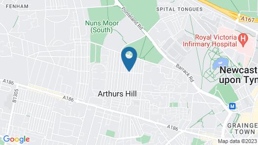Newcastle en-suite Map