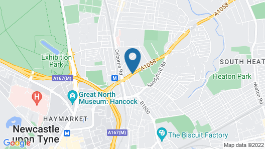 Holiday Inn Newcastle Jesmond Map