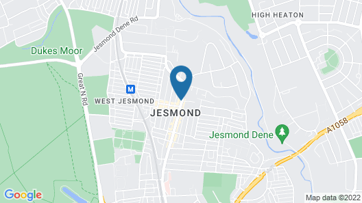 Cairn Hotel Newcastle Jesmond Map