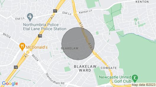 Luxurious modern Newcastle City edge house Map