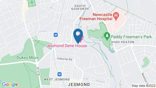 Jesmond Dene House Map