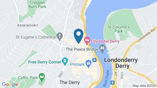 Hogg & Mitchells Apartments Map