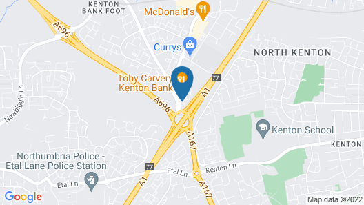 Metro Inns Newcastle Map