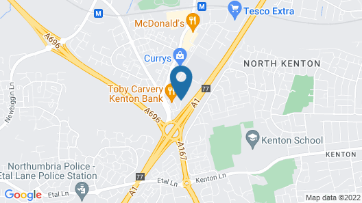 Novotel Newcastle Airport Map