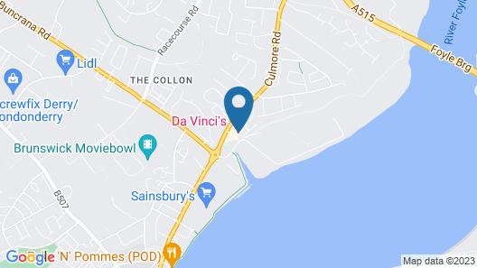 Da Vinci's Hotel Derry Map