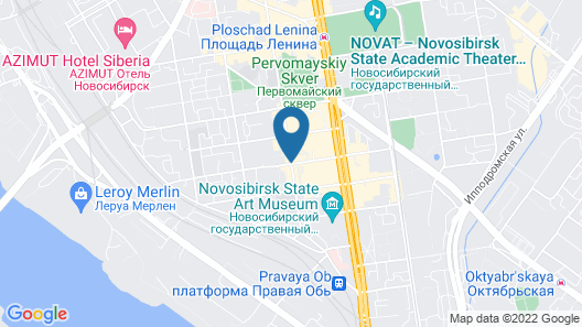 AHOTELS design style on Sovetskaya Map