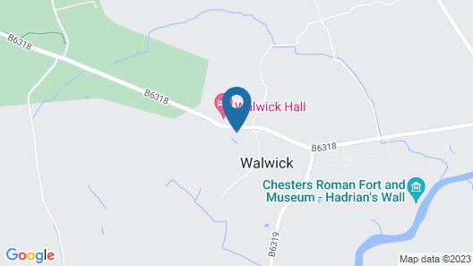 Walwick Hall Map