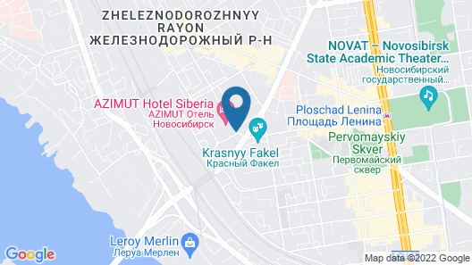 AZIMUT Hotel Siberia Map