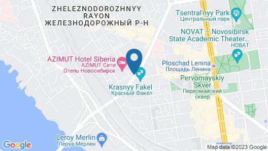 Domina Hotel Novosibirsk Map