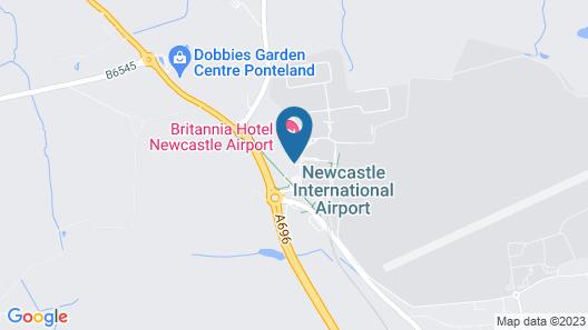 Britannia Hotel Newcastle Airport Map