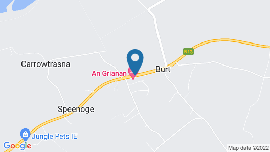 An Grianan Hotel Map