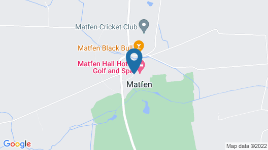 Matfen Hall Hotel, Golf and Spa Map