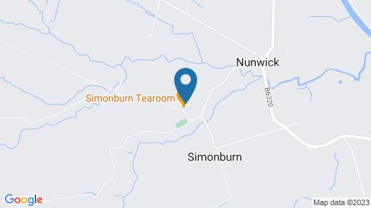 Simonburn B & B Map
