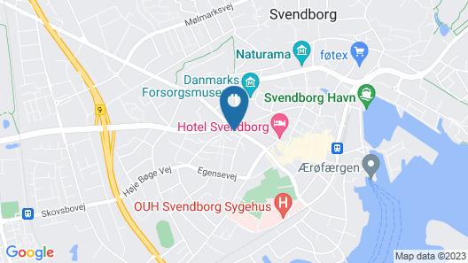 Danhostel Svendborg Map
