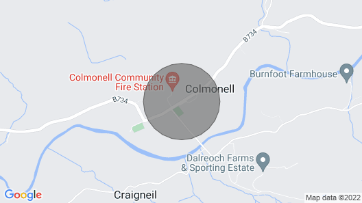 2 Bedroom Accommodation in Colmonell, Near Girvan Map