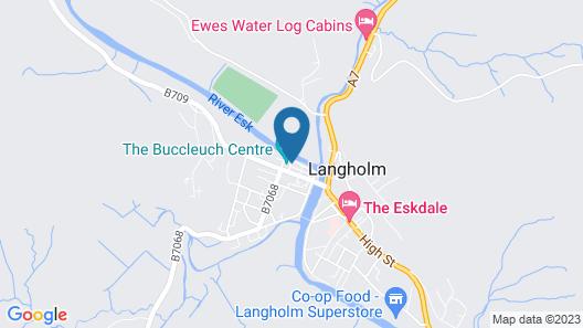 The Warren , Langholm Map