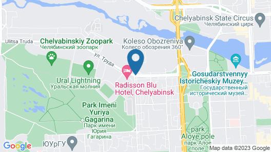 Radisson Blu Hotel, Chelyabinsk Map