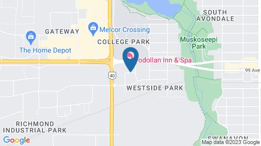 Podollan Inn & Spa Grande Prairie Map