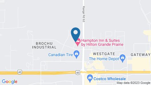 Hampton Inn & Suites by Hilton Grande Prairie Map