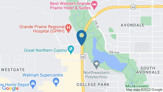 Service Plus Inn and Suites - Grande Prairie Map