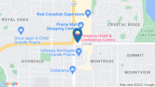 Super 8 by Wyndham Grande Prairie Map