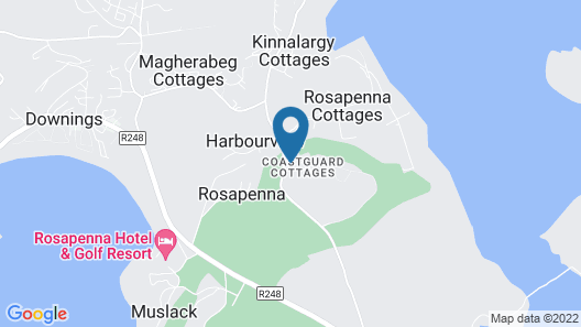Downings Coastguard Cottages - Type A Map