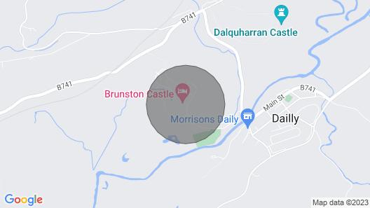 Brunston Castle Lodge Map