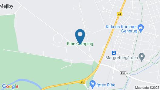 Ribe Camping Map