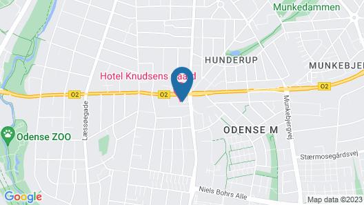 Hotel Knudsens Gaard Map