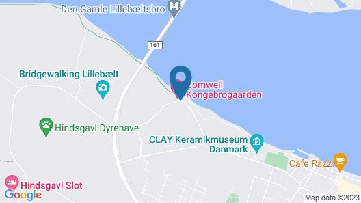 Comwell Kongebrogaarden Map