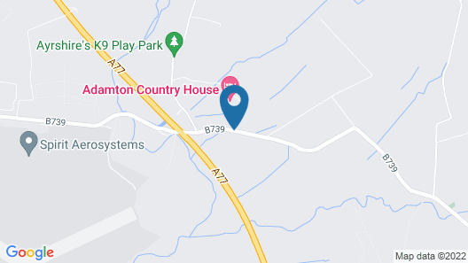 Adamton Country House Hotel Map