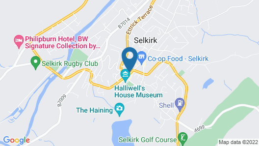 County Hotel Selkirk Map