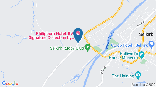 Philipburn Hotel, BW Signature Collection Map