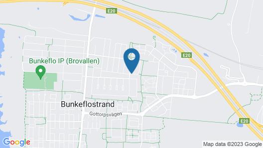 3 Huoneen Majoitus Bunkeflostrand Map