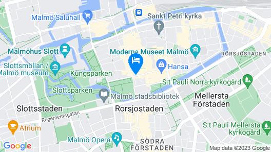 Elite Plaza Hotel Malmö Map