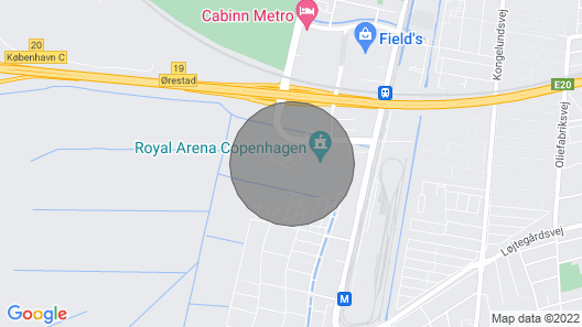 Modern Three-bedroom Apartment Next to Royal Arena and Copenhagen Airport Map