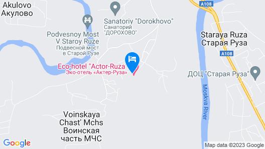 Eco Hotel Actor Ruza Map