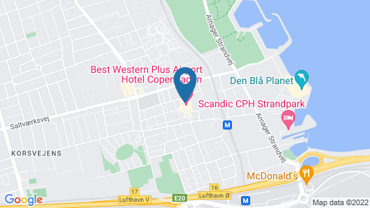 Best Western Plus Airport Hotel Copenhagen Map