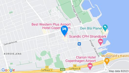 Best Western Plus Airport Hotel Copenhagen Map